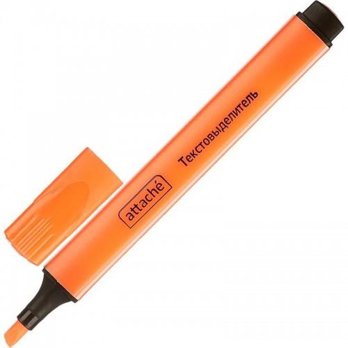 Маркер текстовыделитель Attache, 1-4 мм, треугольный, оранжевый