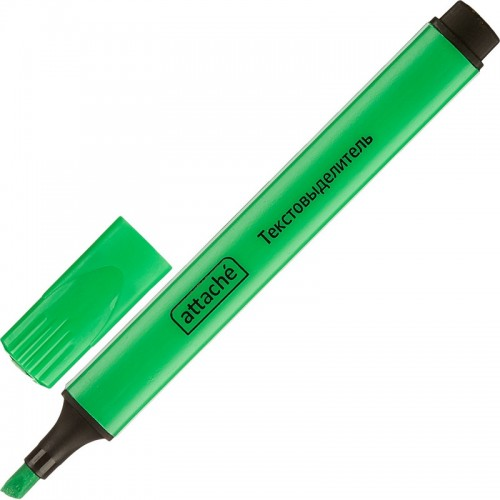 Маркер текстовыделитель Attache, 1-4 мм, треугольный, зеленый