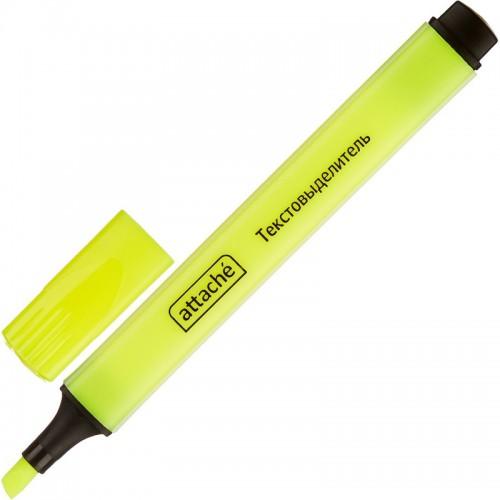 Маркер текстовыделитель Attache, 1-4 мм, треугольный, желтый