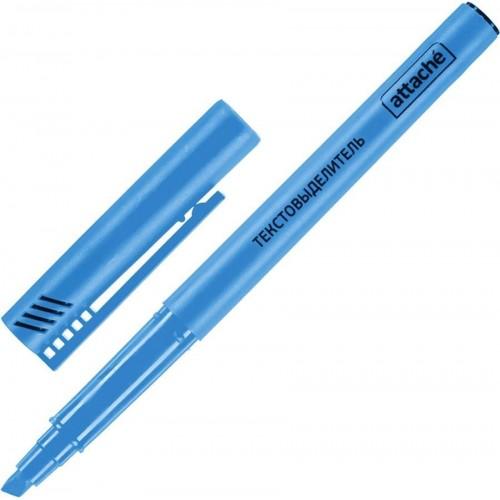 Маркер текстовыделитель Attache, 1-3 мм, синий