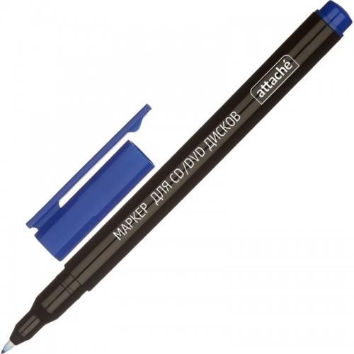 Маркер для CD Attache, 0,8 мм, синий