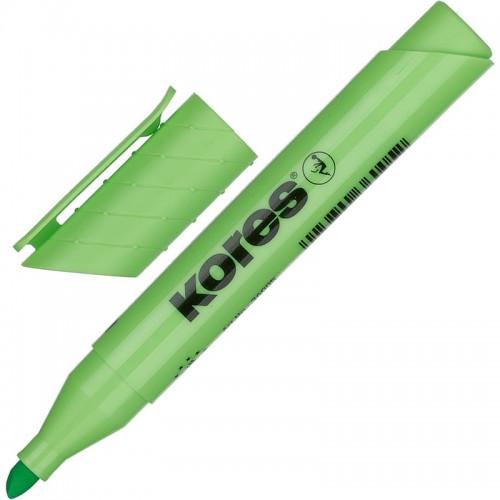 Маркер текстовыделитель Kores, 1-4 мм, зеленый 36005