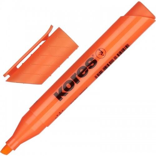 Маркер текстовыделитель Kores, 1-4 мм, оранжевый 36004