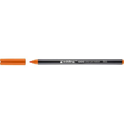 Фломастер Edding (Эддинг) 1300, круглый наконечник, 3 мм, оранжевый 006