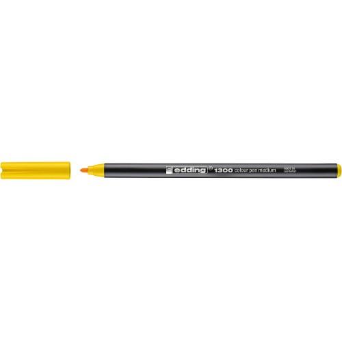 Фломастер Edding (Эддинг) 1300, круглый наконечник, 3 мм, желтый 005