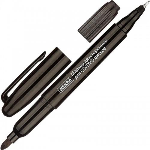 Маркер для CD двусторонний, 0,7-1,0 мм, чёрный