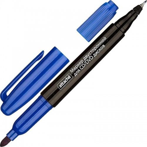 Маркер для CD двусторонний, 0,7-1,0 мм, синий
