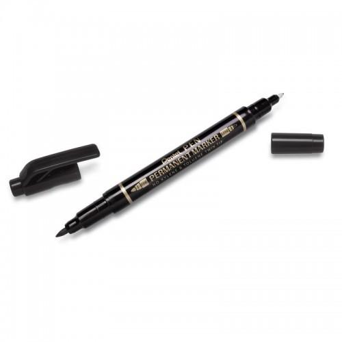 Маркер для CD Pentel N75W-A двухсторонний, 0,3-1,2мм, черный