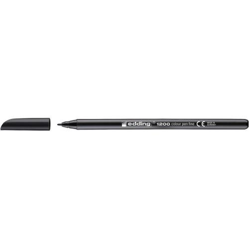 Фломастер Edding (Эддинг) 1200, круглый наконечник, 0,5-1 мм, черный 001