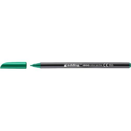Фломастер Edding (Эддинг) 1200, круглый наконечник, 0,5-1 мм, зеленый 004