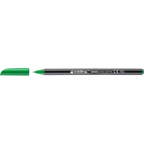 Фломастер Edding (Эддинг) 1200, круглый наконечник, 0,5-1 мм, неоновый зеленый 064