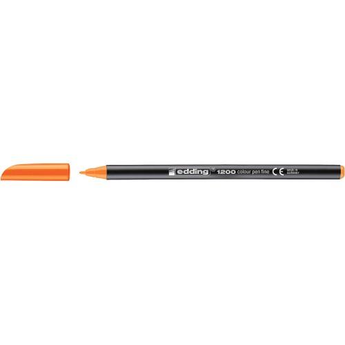 "Фломастер  ""Edding 1200"" кругл/0.5-1мм/неон.оранжевый"