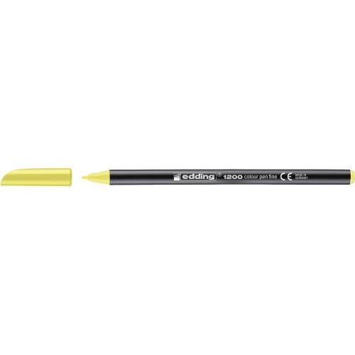 """Фломастер  """"Edding 1200"""" кругл/0.5-1мм/неон.желтый"""