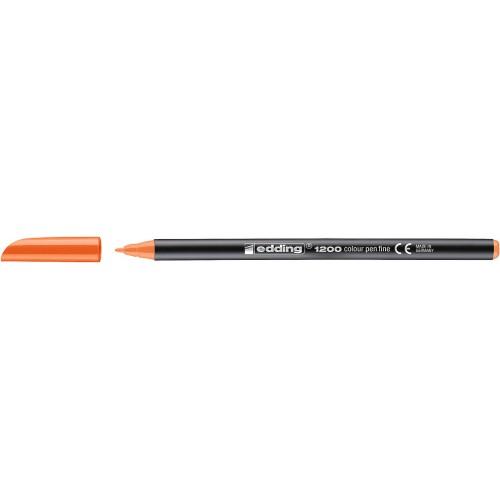 Фломастер Edding (Эддинг) 1200, круглый наконечник, 0,5-1 мм, оранжевый 006