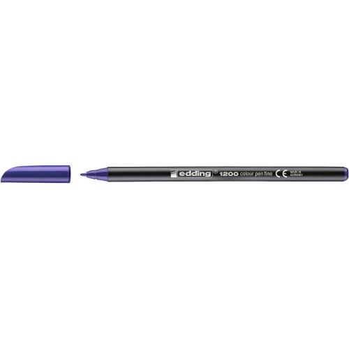 Фломастер Edding (Эддинг) 1200, круглый наконечник, 0,5-1 мм, фиолетовый 008