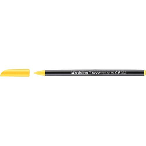 Фломастер Edding (Эддинг) 1200, круглый наконечник, 0,5-1 мм, желтый 005