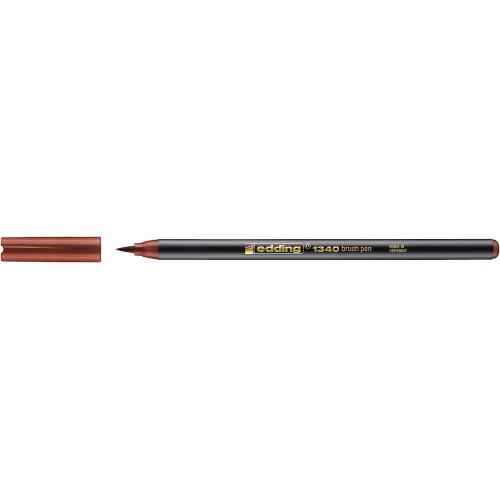 Фломастер Edding (Эддинг) 1340, с наконечником в виде кисточки, коричневый 007
