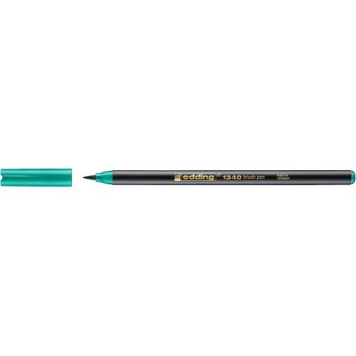 Фломастер Edding (Эддинг) 1340, с наконечником в виде кисточки, зеленый 004
