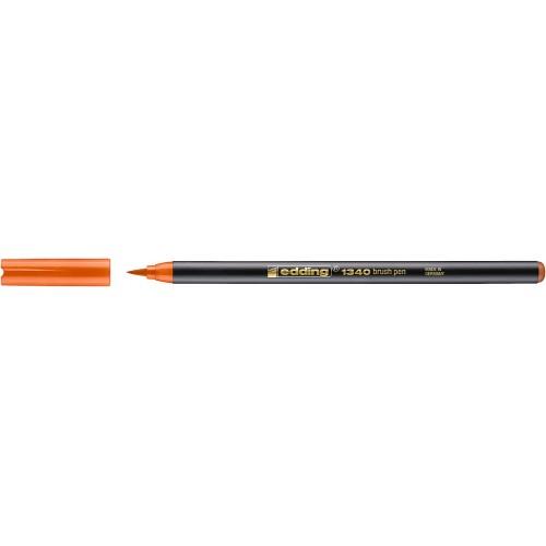 Фломастер Edding (Эддинг) 1340, с наконечником в виде кисточки, оранжевый 006