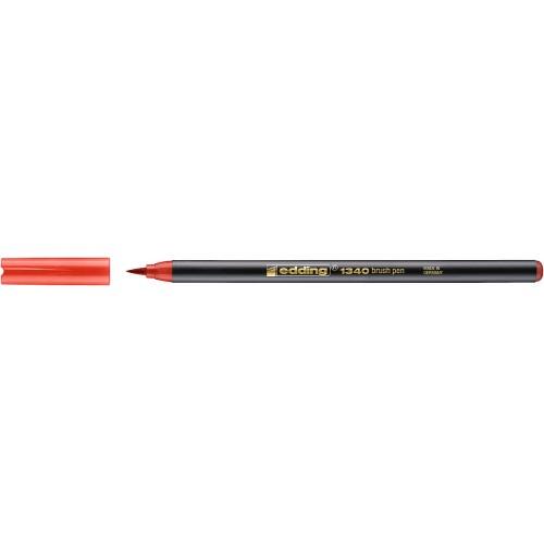 Фломастер Edding (Эддинг) 1340, с наконечником в виде кисточки, красный 002