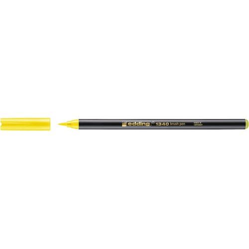 Фломастер Edding (Эддинг) 1340, с наконечником в виде кисточки, желтый 005