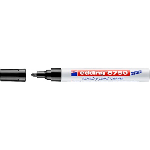 Маркер перманентный для промышленной графики Edding (Эддинг) 8750, круглый наконечник, 2-4 мм, черный 001