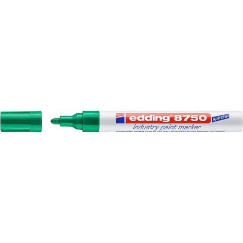 Маркер перманентный для промышленной графики Edding (Эддинг) 8750, круглый наконечник, 2-4 мм, зеленый 004