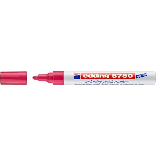 Маркер перманентный для промышленной графики Edding (Эддинг) 8750, круглый наконечник, 2-4 мм, красный 002