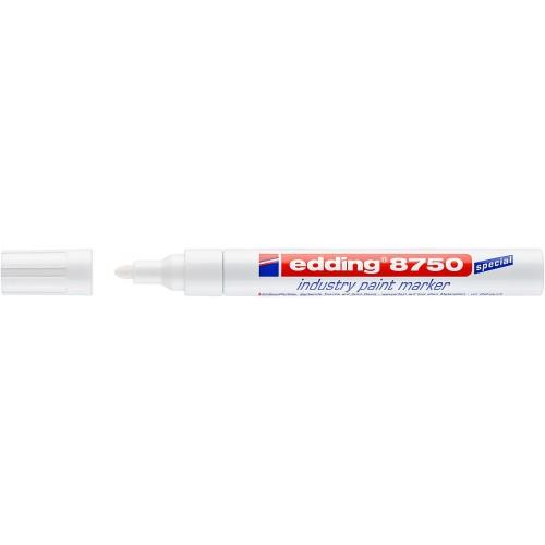 Маркер перманентный для промышленной графики Edding (Эддинг) 8750, круглый наконечник, 2-4 мм, белый 049
