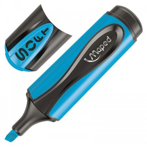 Маркер текстовыделитель Maped ultra soft, 1-5 мм, мягкий наконечник, голубой