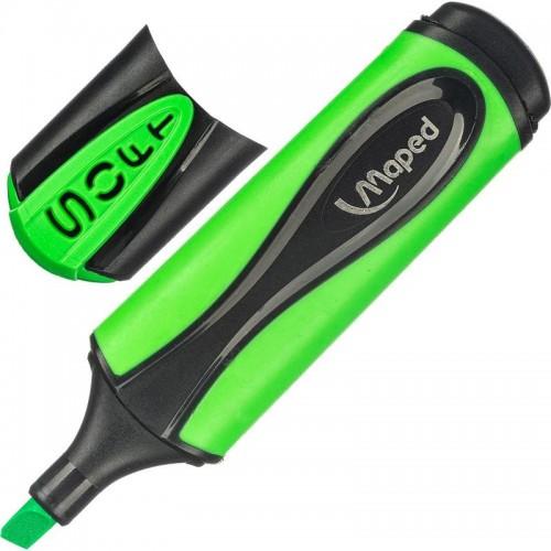 Маркер текстовыделитель Maped ultra soft, 1-5 мм, мягкий наконечник, зеленый