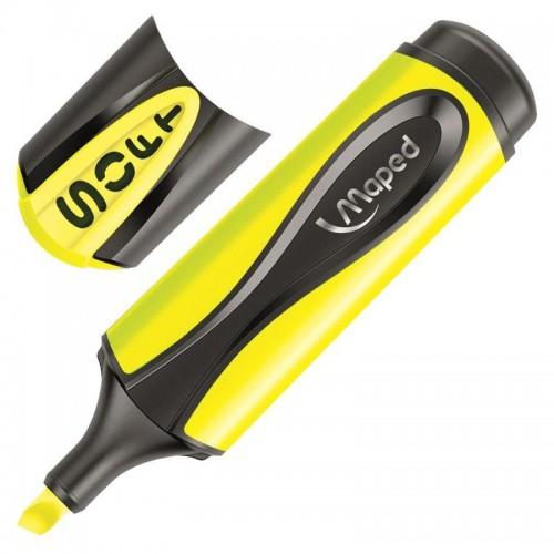 Маркер текстовыделитель Maped ultra soft, 1-5 мм, мягкий наконечник, жёлтый