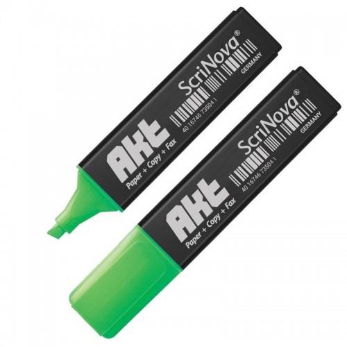 Маркер текстовыделитель ScriNova Akt, 1-5 мм, зеленый