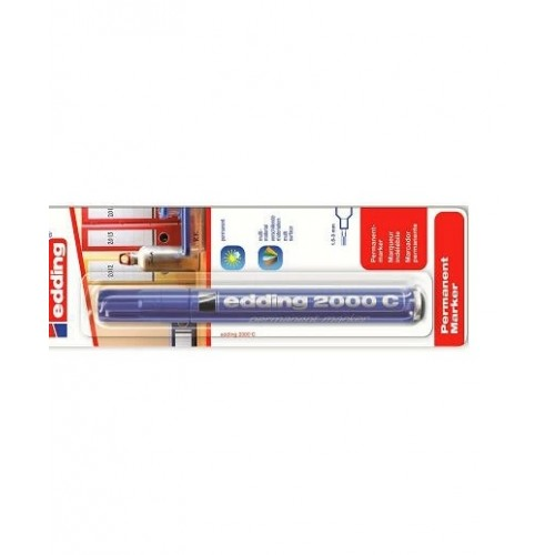 Маркер перманентный промышленный Edding (Эддинг) 2000С, круглый наконечник, 1,5-3 мм, заправляемый, синий 003, блистер