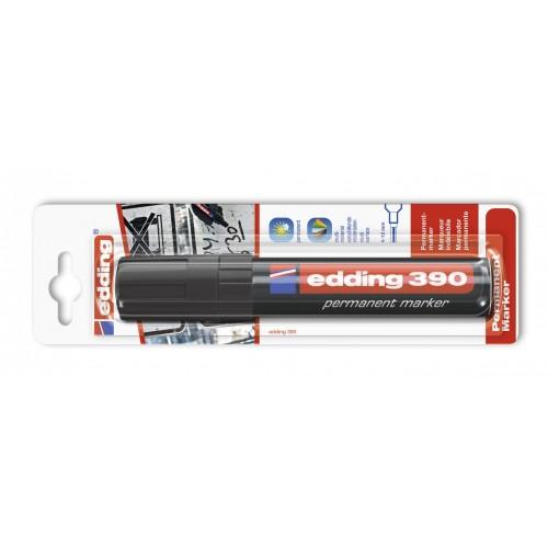 Маркер перманентный промышленный Edding (Эддинг) 390, клиновидный наконечник, 4-12 мм, черный 001, блистер