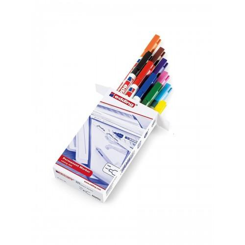 Набор маркеров перманентных Edding (Эддинг) 400, круглый наконечник, 1 мм, 10 шт/уп