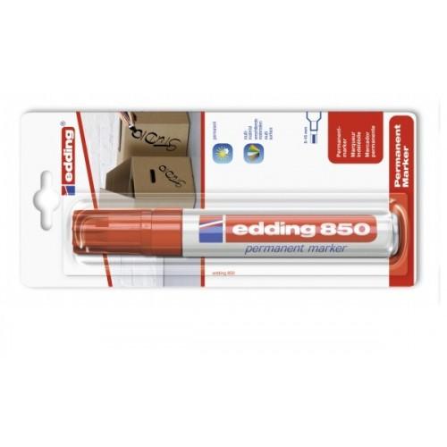 Маркер перманентный промышленный Edding (Эддинг) 850, клиновидный наконечник, 5-16 мм, красный 002, блистер