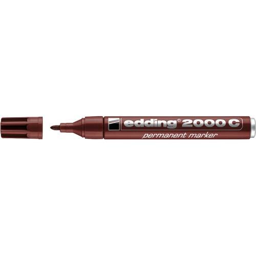 Маркер перманентный Edding (Эддинг) 2000С, круглый наконечник, заправляемый, коричневый 007