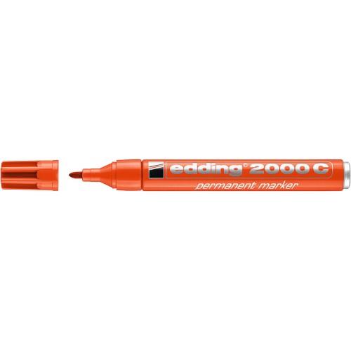 Маркер перманентный Edding (Эддинг) 2000С, круглый наконечник, заправляемый, оранжевый 006