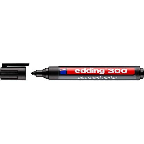 Маркер перманентный промышленный Edding (Эддинг) 300, круглый наконечник, 1,5-3 мм, черный 001