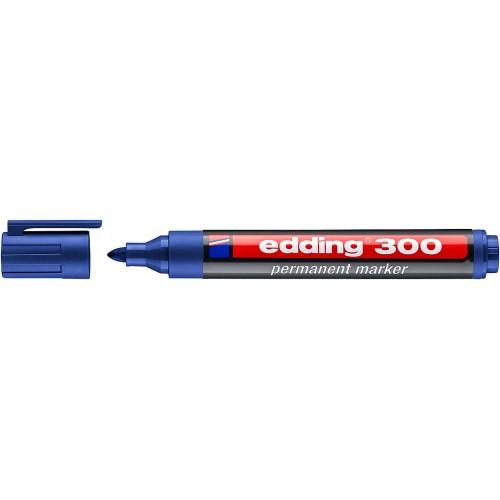 Маркер перманентный промышленный Edding (Эддинг) 300, круглый наконечник, 1,5-3 мм, синий 003