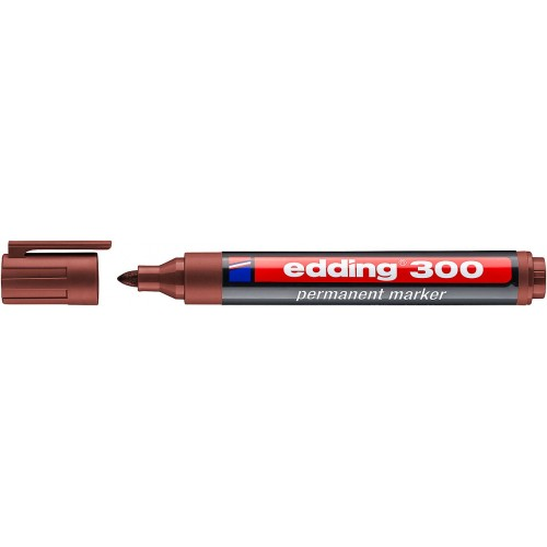 Маркер перманентный промышленный Edding (Эддинг) 300, круглый наконечник, 1,5-3 мм, коричневый 007