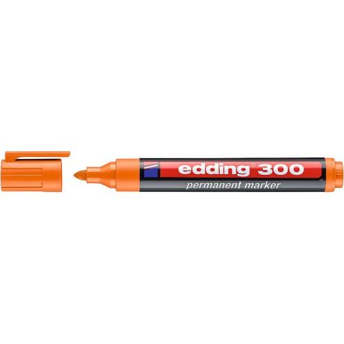 Маркер перманентный промышленный Edding (Эддинг) 300, круглый наконечник, 1,5-3 мм, оранжевый 006