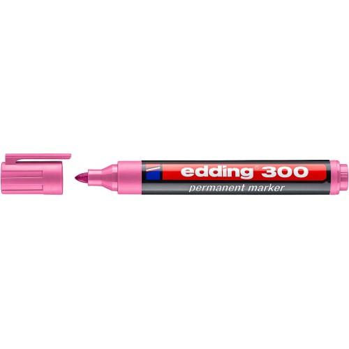 Маркер перманентный промышленный Edding (Эддинг) 300, круглый наконечник, 1,5-3 мм, розовый 009