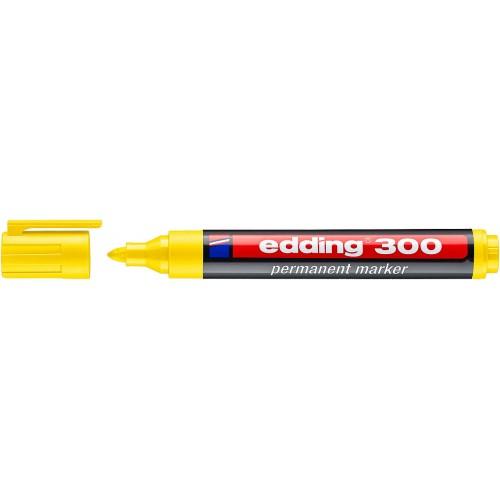 Маркер перманентный промышленный Edding (Эддинг) 300, круглый наконечник, 1,5-3 мм, желтый 005