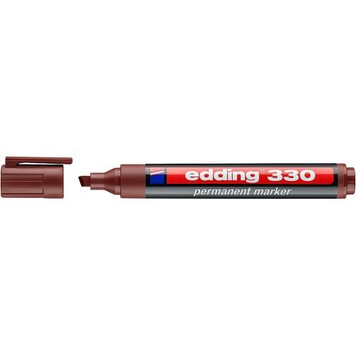 Маркер перманентный промышленный Edding (Эддинг) 330, клиновидный наконечник, 1-5 мм, коричневый 007