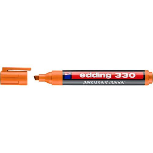 Маркер перманентный промышленный Edding (Эддинг) 330, клиновидный наконечник, 1-5 мм, оранжевый 006