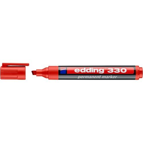Маркер перманентный промышленный Edding (Эддинг) 330, клиновидный наконечник, 1-5 мм, красный 002