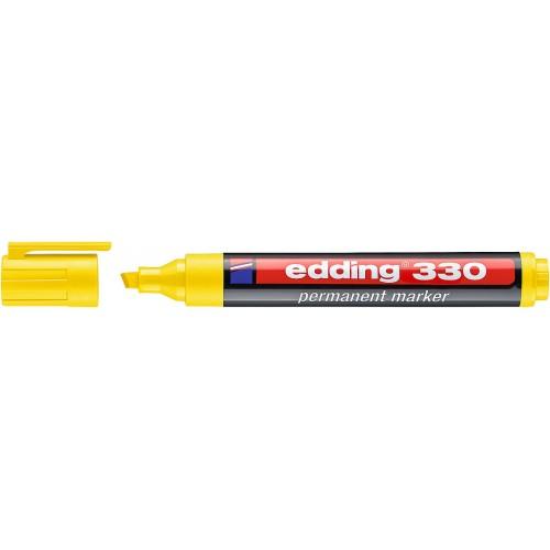 Маркер перманентный промышленный Edding (Эддинг) 330, клиновидный наконечник, 1-5 мм, желтый 005