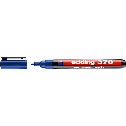 Маркер перманентный промышленный Edding (Эддинг) 370, круглый наконечник, 1 мм, синий 003